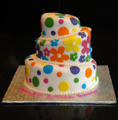 3 Tiered Topsy Turvy Cake