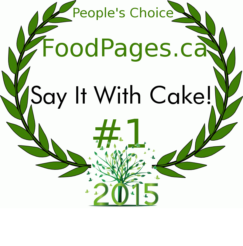 Say It With Cake! FoodPages.ca 2015 Award Winner